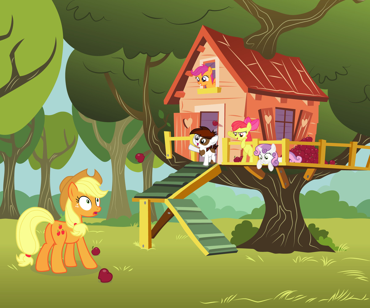 Apple Bloom Applejack Cutie Mark Crusaders Pipsqueak Scootaloo And Others Drawn By Capt Nemo Bronibooru