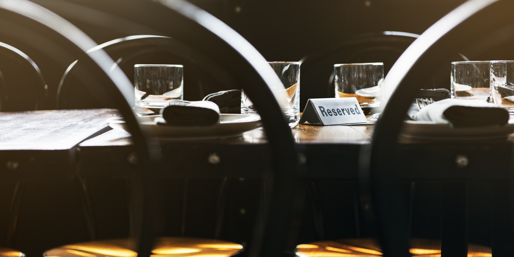 Banquet Reserved Table Celebration Concept