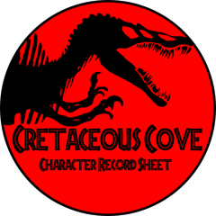 Cretaceous Cove Character Sheet