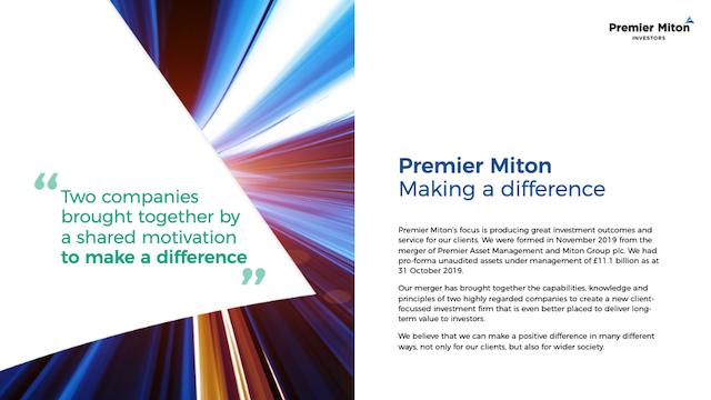 Premier Miton Group - Half Year Results 2021