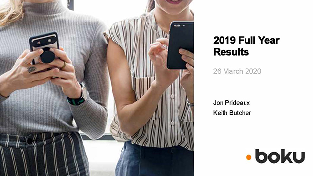 Boku - Full Year Results 2019 analyst presentation
