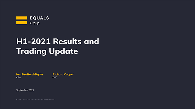 Equals Group - Interim Results conference call