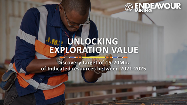 Endeavour Mining - 5-Year Exploration Strategy to discover 15-20Moz Indicated Resources