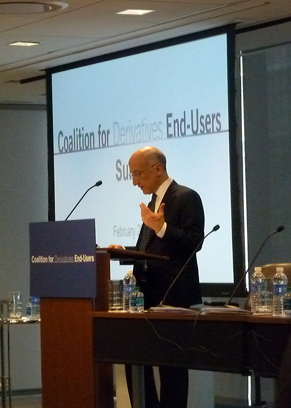 CFTC Chairman Timothy Massad address Coalition for Derivatives End-Users