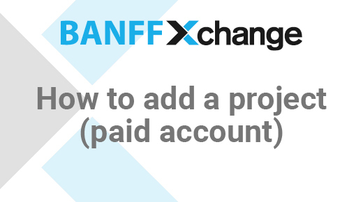 Thumbnail of Adding A Project (Paid Account)