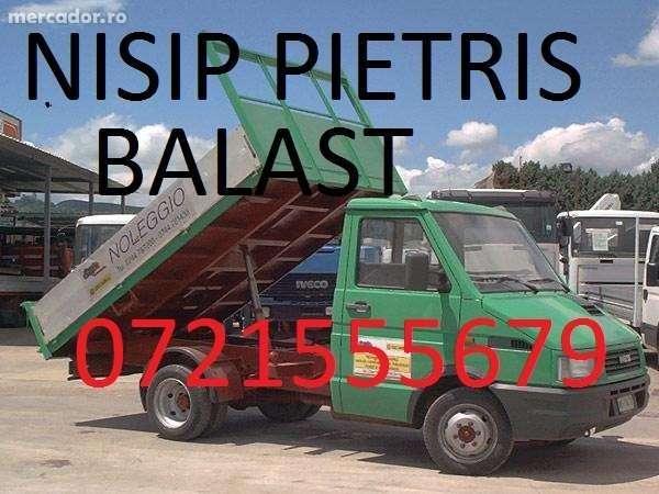 Vand/Transport Nisip ,pietris,balast,pamant Negru, Evacuez Moloz,gunoi