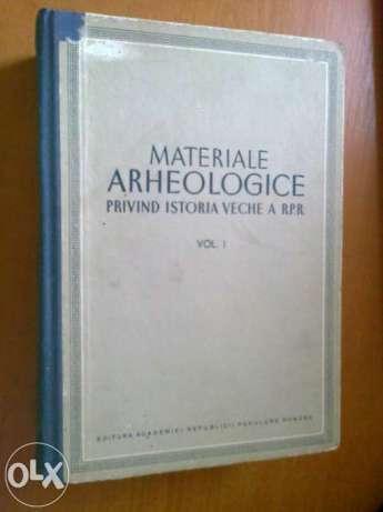 Materiale Arheologice Privind Istoria Veche A R.p.r. Vol.1