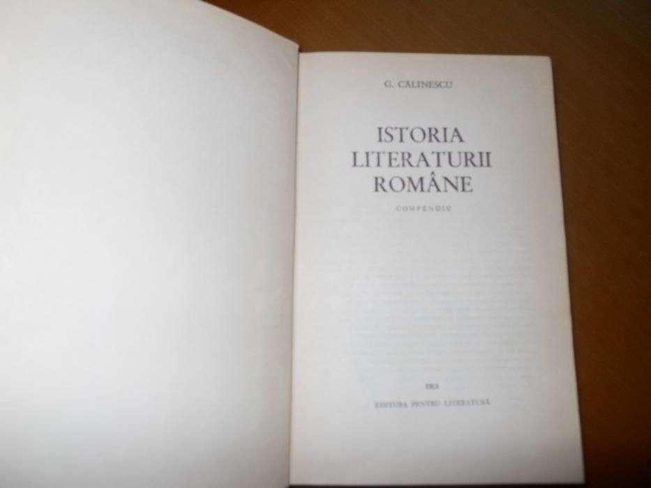 G.Calinescu -Istoria Literaturii Romane, - Compendiu ,1968