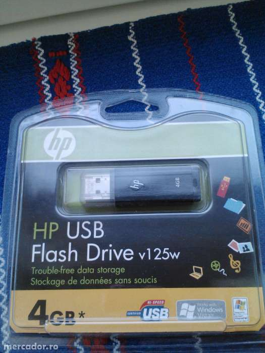 Stick USB Marca HP - 4 Gb - Nou-nout, In Tipla