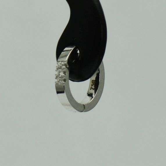 Cercei Bebelusi Aur Alb 18k Cu Diamante (cod 2863)