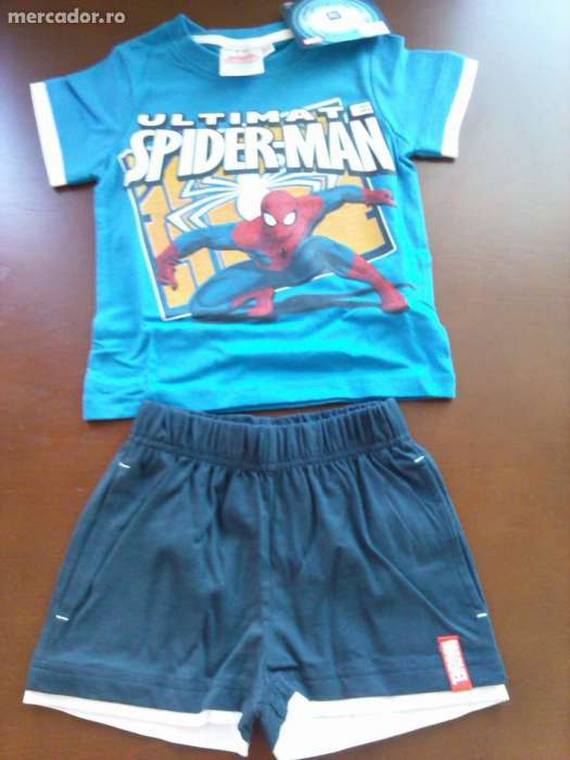 REDUCERE 50 % : Set Spiderman Disney Made In Franta. Bumbac 100 %