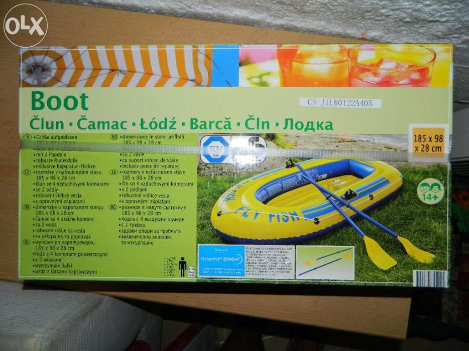 Barca Cu Set Vasle, Noua, 120kg, Sigilata, Optional Pompa 48cm