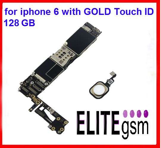 EliteGSM-Placa De Baza IPhone 6 GOLD 128GB Neverlock Fara ICloud+BUTON