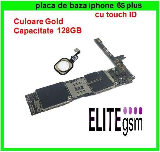 EliteGSM-Placa De Baza IPhone 6S P GOLD 128GB Neverlock Fara ICloud+BU