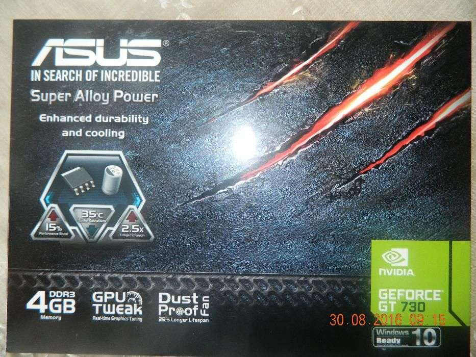 Placa Video ASUS GeForce GT 730 4GB GDDR3 128bit PCI-E (GT730-4GD3)
