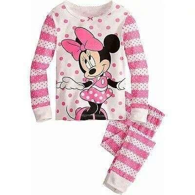 Pijama Roz Minnie Bumbac 100% Pt 2-3 Ani Marime 95 Cm