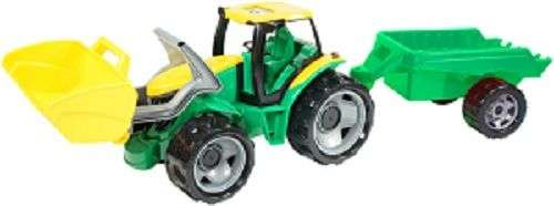 Tractor Jucarie, Cu Remorca - Galben/verde, 108cm, +3 Ani
