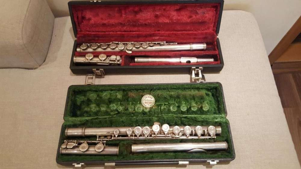 Flaut Gold Seeal USA. Flaut Ida Maria Grassi Italian