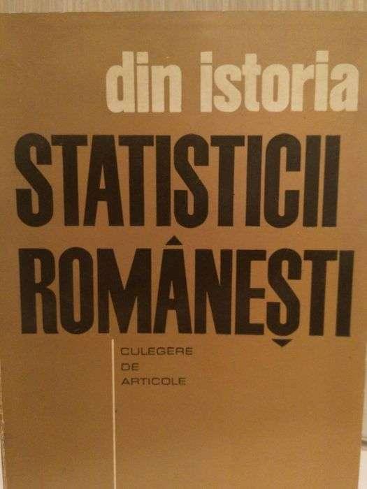ISTORIA Statisticii Romanesti (poze, Grafice), 1969, 500 Pagini