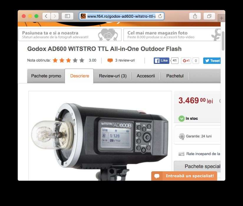 Godox AD600 WITSTRO TTL All-in-One Outdoor Flash