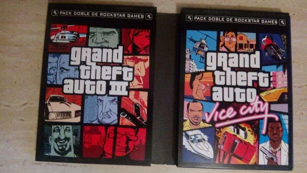 Pachet 2 Jocuri PS2, Playstation 2 GTA III Si Vice City