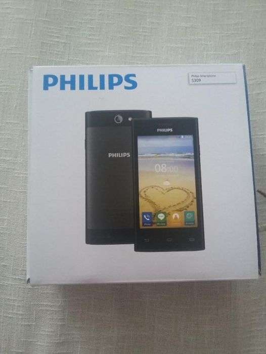 Telefon Philips S309, Dual Sim, 8GB, Black