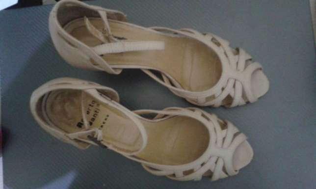 Sandale Piele Mar.35 Nude Cu Toc 7 Cm
