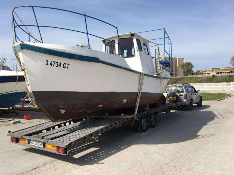 tractari auto transport barci utilaje marfa platforma peridoc