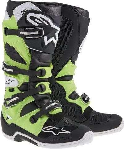 Cizme Motocross Alpinestars Stiefel Tech 7 Negru/verde