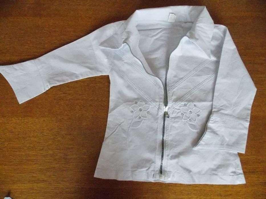 Camasa Noua Alba Cu Strasuri Pentru Fete Mar 7-8 Ani