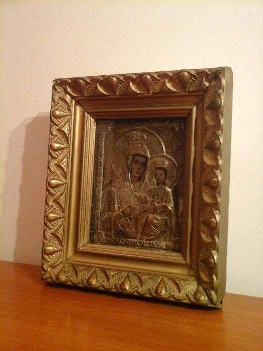 Icoana Veche, Fecioara Maria Cu Pruncul Iisus, Deosebit Lucrata (Nr.49
