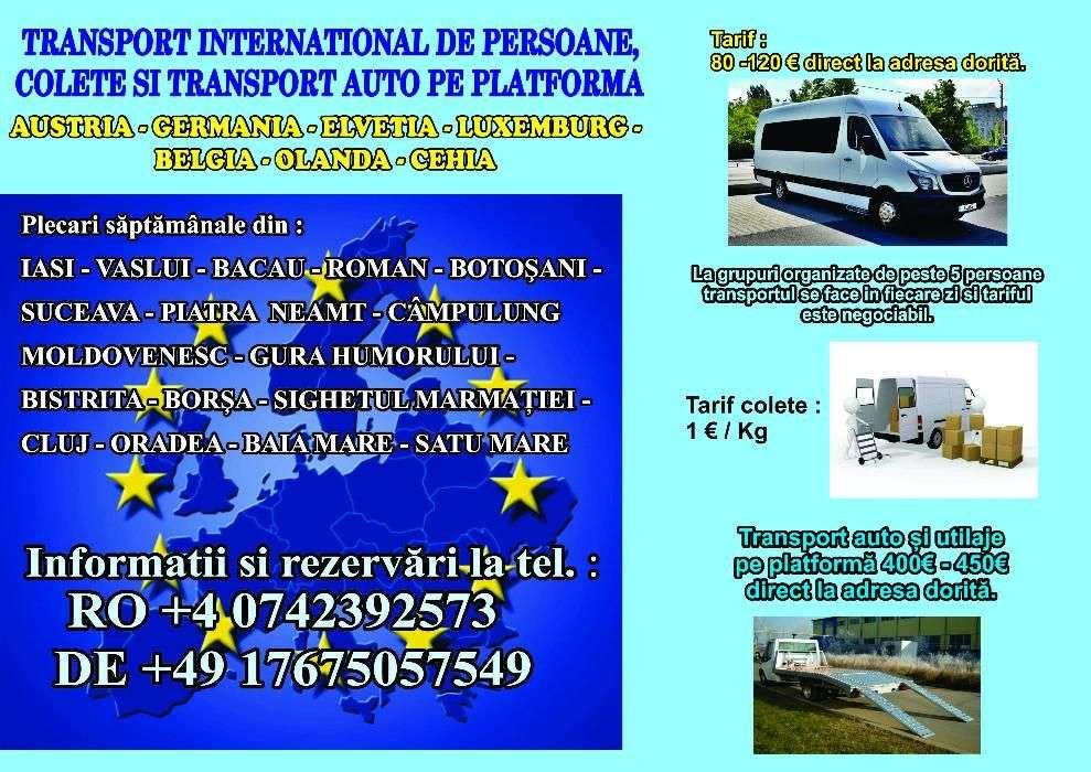 Transport Persoane și Colete Austria Germania Luxemburg Belgia Olanda