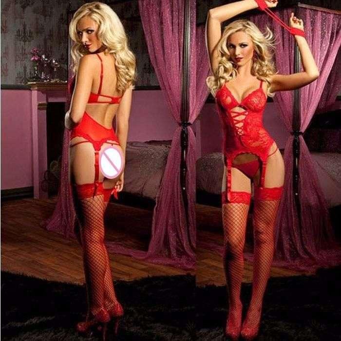 cumpara cel mai bine verifică autentic nou Set Lenjerie Sexy/ Lenjerie Dantela Rosie-NOU!!