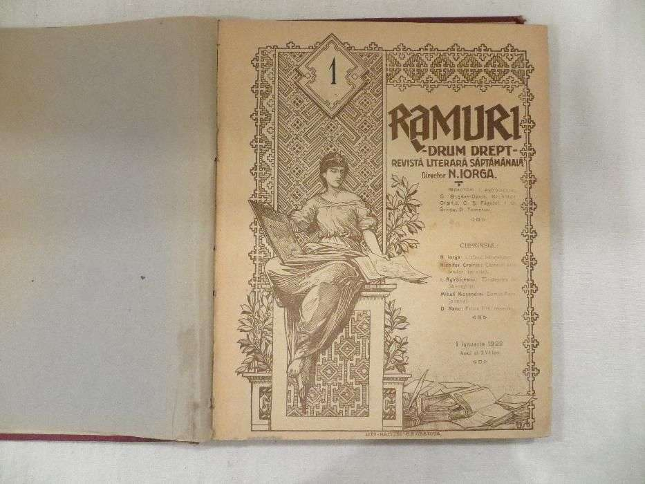 "Revista ,,Ramuri"" Nicolae Iorga 1922"