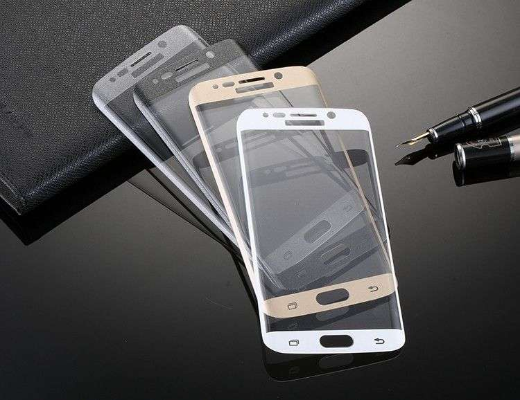 Folie Sticla Securizata Samsung S6 Edge Plus Tempered Glass Curbata