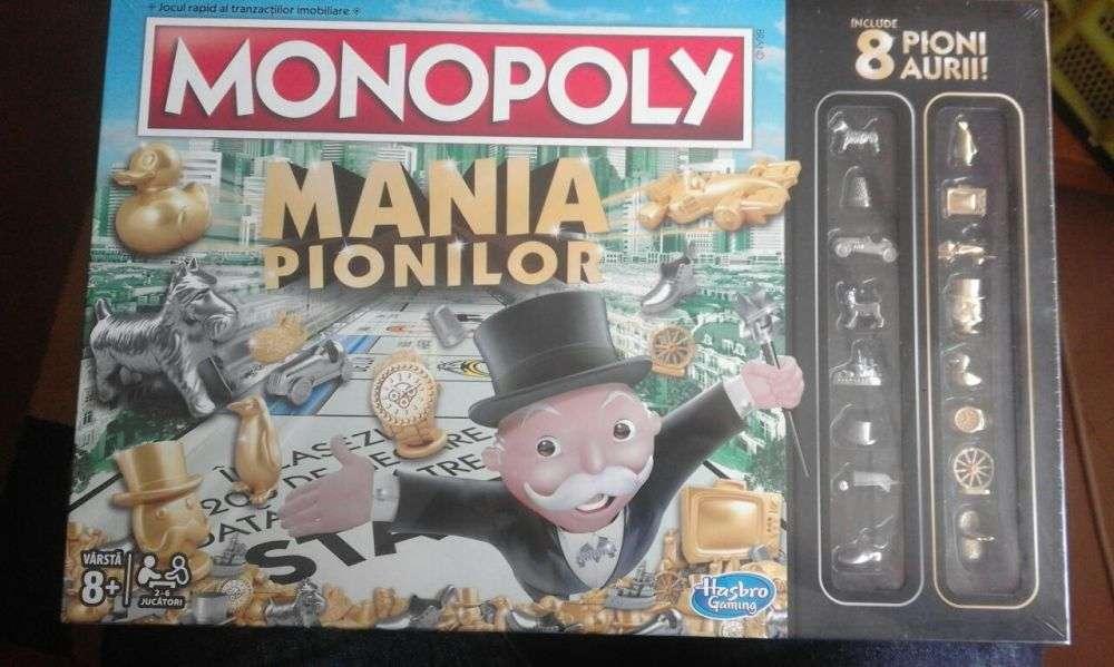 Joc De Societate Nou Monopoly Mania Pionilor, Hasbro, Sigilat In Tipla