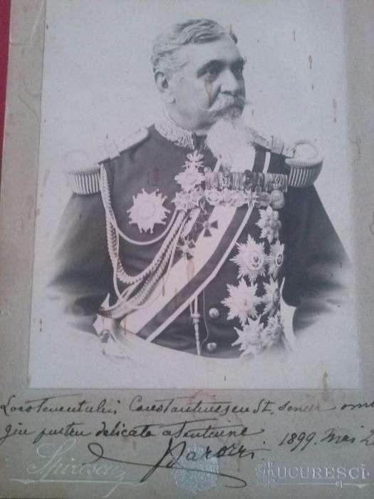 Foto , Generalul Constantin Barozzi ,Ministru De Razboi Al Romaniei