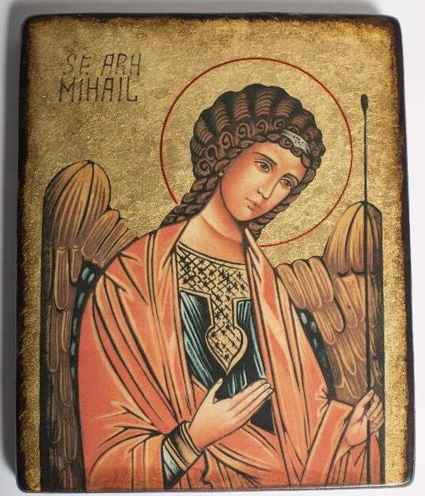 Icoana Sf. Arh. Mihail Pictata Sfintita