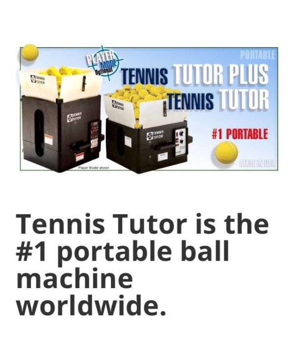 "Vand Tun De Mingi "" Tennis Tutor Plus Player"""
