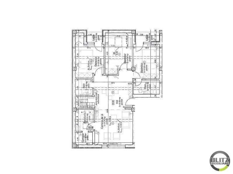 5 Camere, 130 Mp, Semifinisat, Zona Bonjour Residence