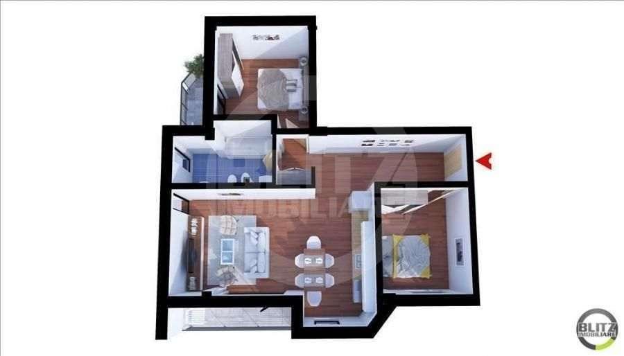 3 Camere, 62 Mp, Etaj Intermediar, Parcare, Zona Strazii Donath