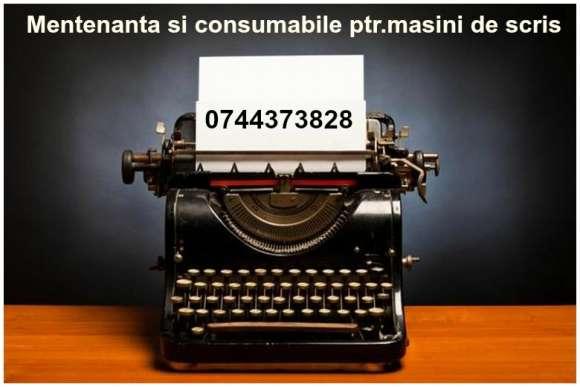Mentenanta Si Consumabile Ptr.masini De Scris Mecanice Si Electrice.