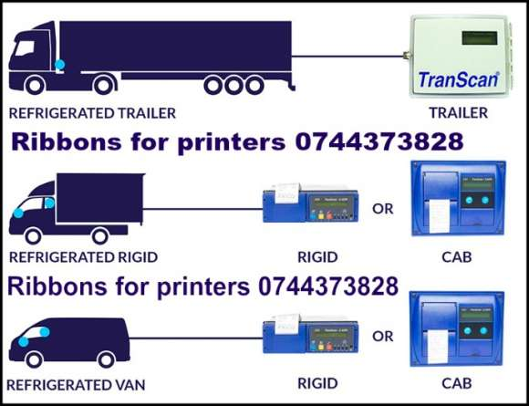 Ribon Si Rola Ptr. Transcan / Euroscan / Thermo King /Cargo-Print / Carrier Transicold / Termograf Carrier Data Cold / DL-PRO / DL-SPR.