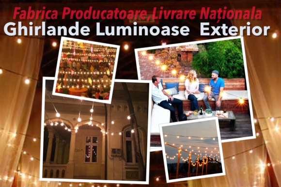 Inchiriere Ghirlande Luminoase,de Exterior,Eveniment,Nunta,Petreceri,Pret Producator