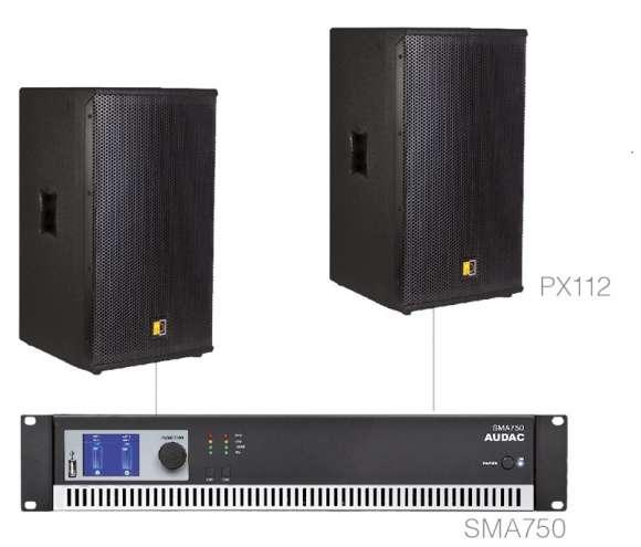 Vand Sistem Audio Format Din 2 Boxe Pasive + Amplificator - Audac FORTE12.2