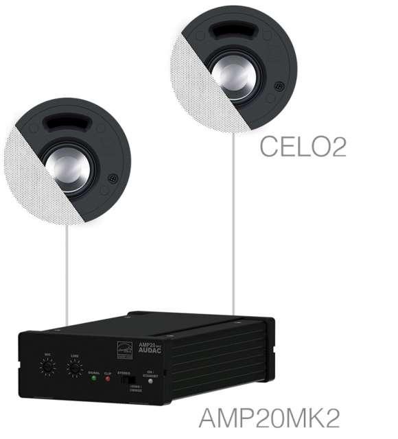 Vand Sistem Audio 2 Boxe De Tavan + Amplificator SENSO2.2