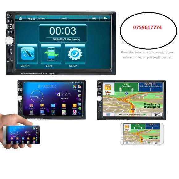 Navigatie Auto GPS, Mp5 Player DVD Video, 7 Inch, 2 DIN, Bluetooth Cel Mai Mic Pret.Rama Adaptoare Cadou !!!
