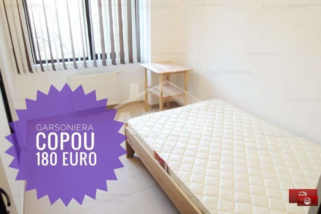 Garsoniera In Copou - Bloc Nou 2014 - Doar 180 Euro/luna