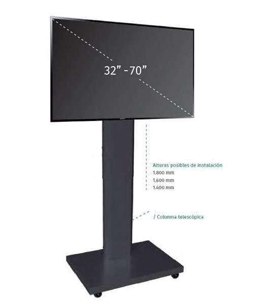 Suport Cu Roti Si Inaltime Reglabila Pentru LCD/display MIF 1400-1600-1800