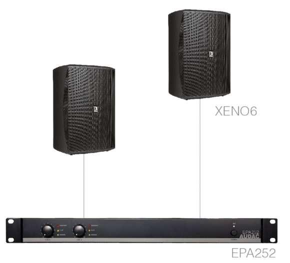 Sistem Audio 2 Boxe De Perete + Amplificator FESTA7.2E